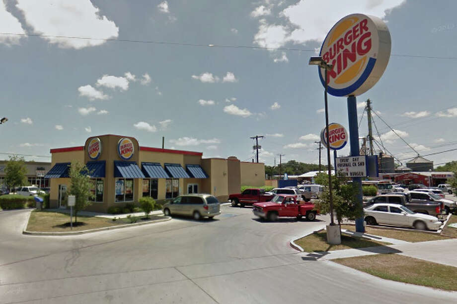 Burger King: 1874 S. W.W. White Road, San Antonio, TX 78220 Date: 07/18/2017 Score: 77 Highlights: Raw eggs stored at 79 degrees discarded; fly strip seen above reach-in cooler; hand-washing sinks seen being used to dump waste water and fill containers with water; foods stored past expiration date; employees, managers handling food must wear hair restraints Photo: Google Street View/Maps
