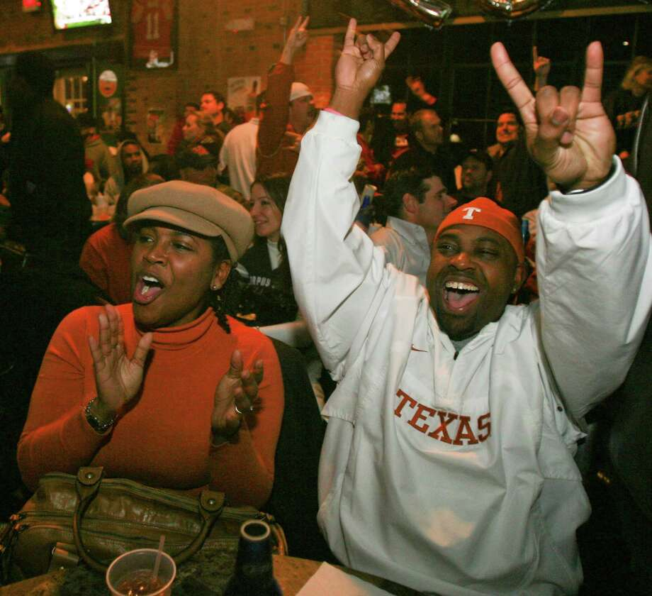 University of Texas fans can cheer on the team at a number of sports bars in the Houston area. Photo: Billy Smith II, Staff / Houston Chronicle