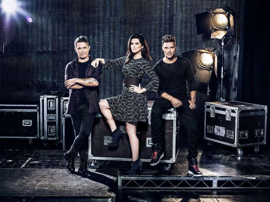 La Banda judges Alejandro Sanz, left, Laura Pausini and Ricky Martin. Photo: Omar Cruz, Photographer / Owner / Omar Cruz