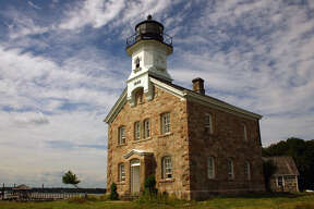 The Sheffield Island Lighthouse is owned by the Norwalk Seaport Association, the organization that runs the Norwalk Oyster Festival.