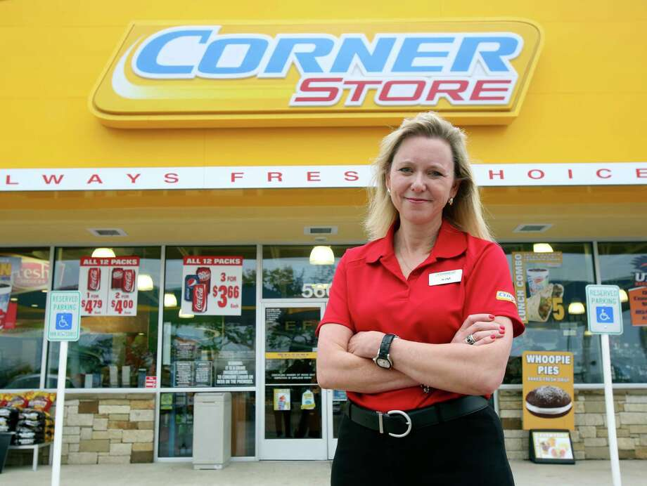 Kim Lubel, CEO of CST Brands, stands in front of a Corner Store convenience store in a 2013 photo. For the second time this month, a CST Brands shareholder has sent a letter to its board of directors criticizing its strategy and raising the idea of putting it up for sale. Photo: Helen L. Montoya /Express-News File Photo / ©2013 San Antonio Express-News
