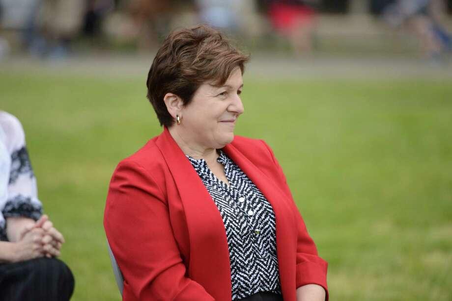 Derby Mayor Anita Dugatto Photo: Autumn Driscoll / Hearst Connecticut Media / Connecticut Post