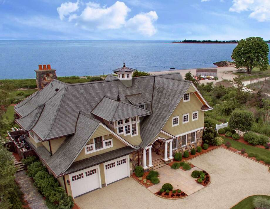 The property at 7 Sandpiper Road is on the market for $7,995,000. The nine-room custom Colonial was built in 2007. Photo: Contributed / Contributed Photo / Westport News