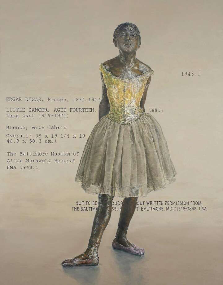 "Jane Sutherland's ""Little Dancer"" series of paintings is inspired by Edgar Degas' great work. This painting is included in ""Dance,"" an exhibition at Fairfield University's Quick Center. Photo: Contributed Photo"