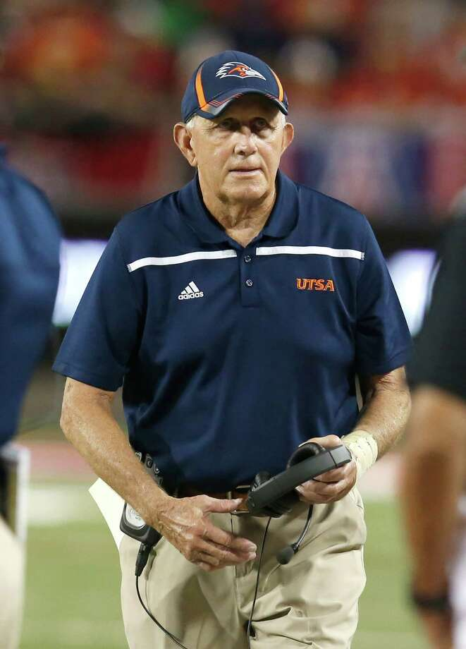 UTSA head coach Larry Coker during the first half of an NCAA college football game against Arizona, Thursday, Sept. 3, 2015, in Tucson, Ariz. Photo: Rick Scuteri /Associated Press / FR157181 AP