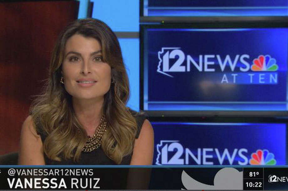Vanessa Ruiz anchors a broadcast for 12 News, an NBC affiliate in Phoenix. In a state where the use of Spanish is a hot-button political topic, Ruiz's rolled Rs and authentic pronunciations of place names generated enough complaints that she was moved to defend her bilingual heritage on the air. Photo: 12 NEWS /New York Times / 12 NEWS