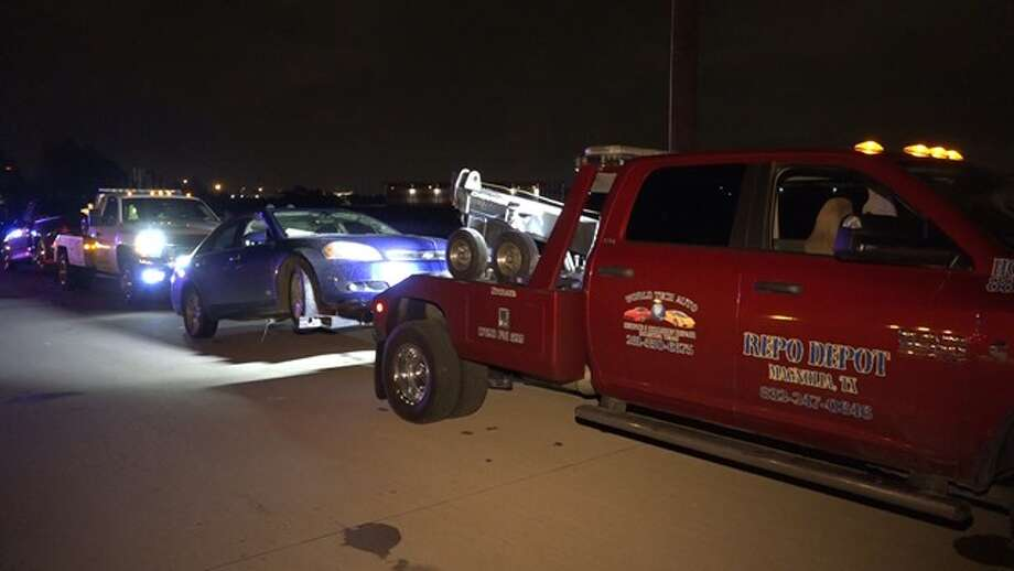 About 100 vehicles showed up for a street race on Wagg Way at Jack Rabbit in northwest Harris County, Sept. 10, 2015, according to the Montgomery County Police Reporter. Photo: Montgomery County Police Reporter