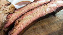 Pork ribs at Brooks' Place BBQ in Cypress. Brooks' Place BBQ