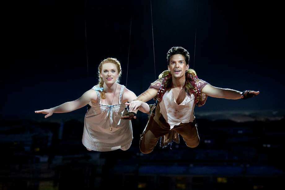 "Sarah Charles and Dan Rosales star in ""Peter Pan 360."" Photo: Jeremy Daniel"