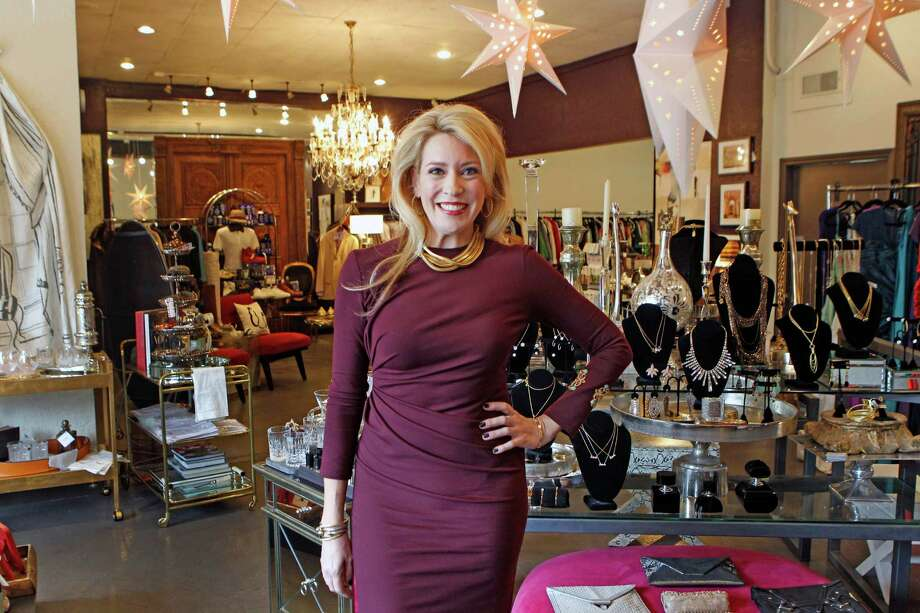 Mauri Oliver, who owns River Oaks boutique More Than You Can Imagine with her mother, worked as a speech pathologist before joining the store full time. Photo: Steve Gonzales, Staff / © 2015 Houston Chronicle