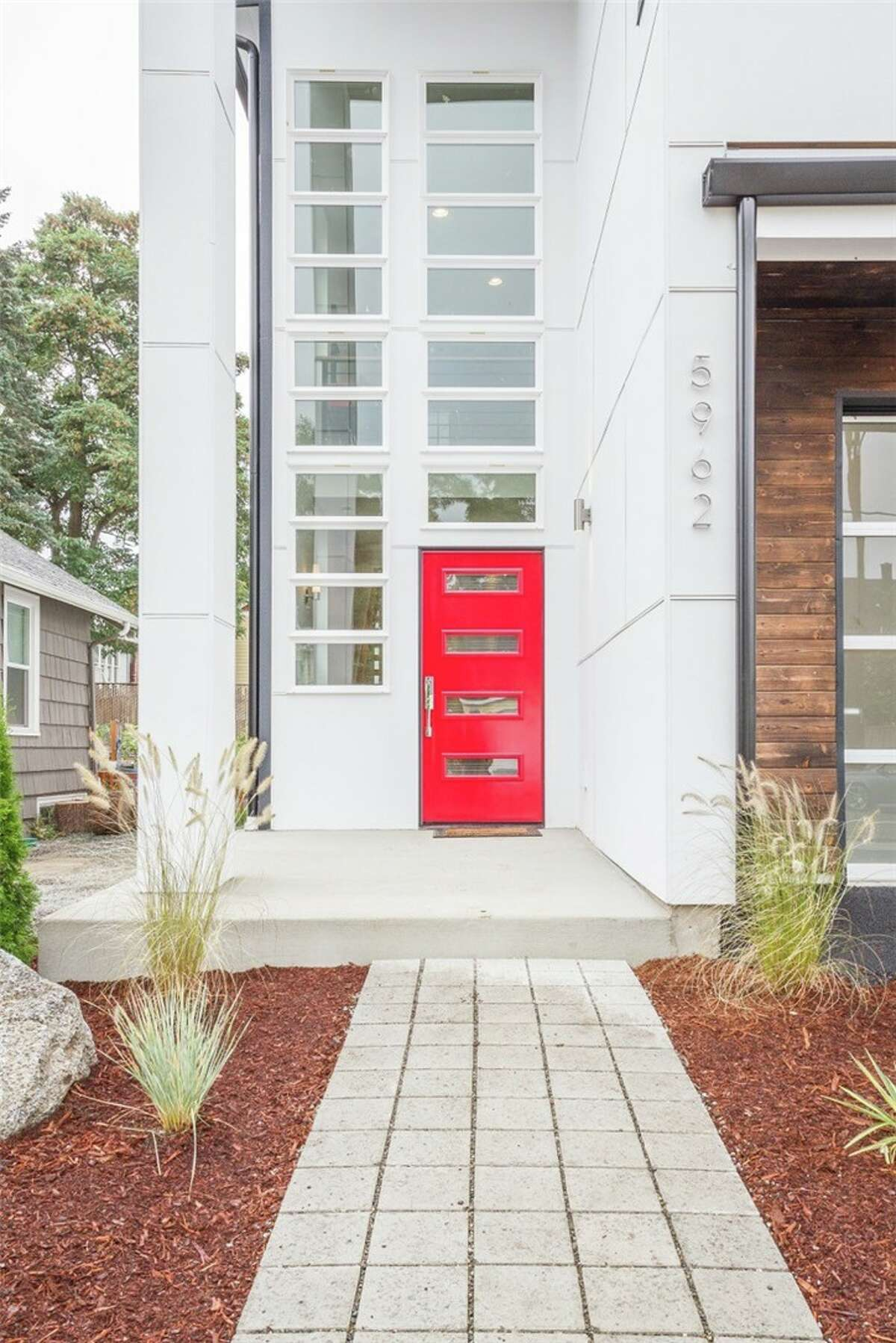 Front entryway at 5962 44th Ave. S. in Hillman City. The three-bedroom, 2.5-bathroom home is priced at $749,000.