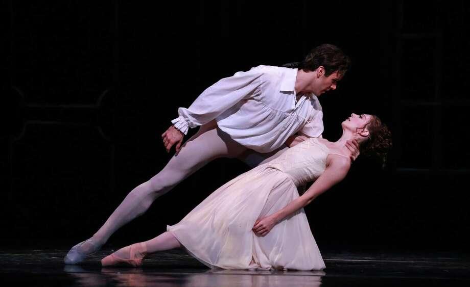 """Melody Mennite and Connor Walsh bring chemistry to the roles of the lead lovers in Houston Ballet's """"Manon."""" Photo: Amitava Sarkar"""