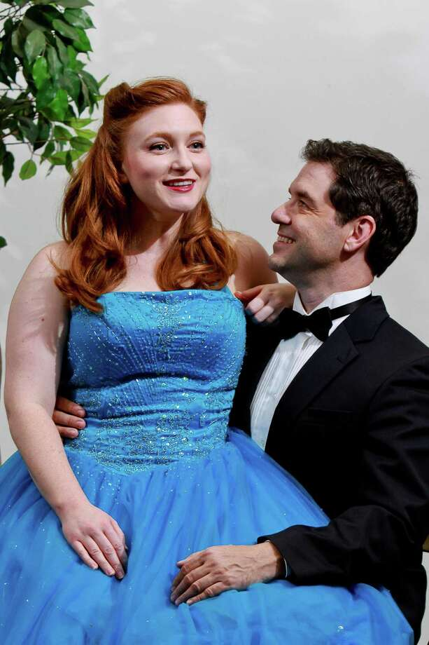 """Jennifer Gilbert as Ella, and John Gremillion as Jeff, in this scene from Bayou City Concert Musicals staging of """"Bells Are Ringing."""" (For the Chronicle/Gary Fountain, September 8, 2015) Photo: Gary Fountain, Freelance / Copyright 2015 by Gary Fountain"""