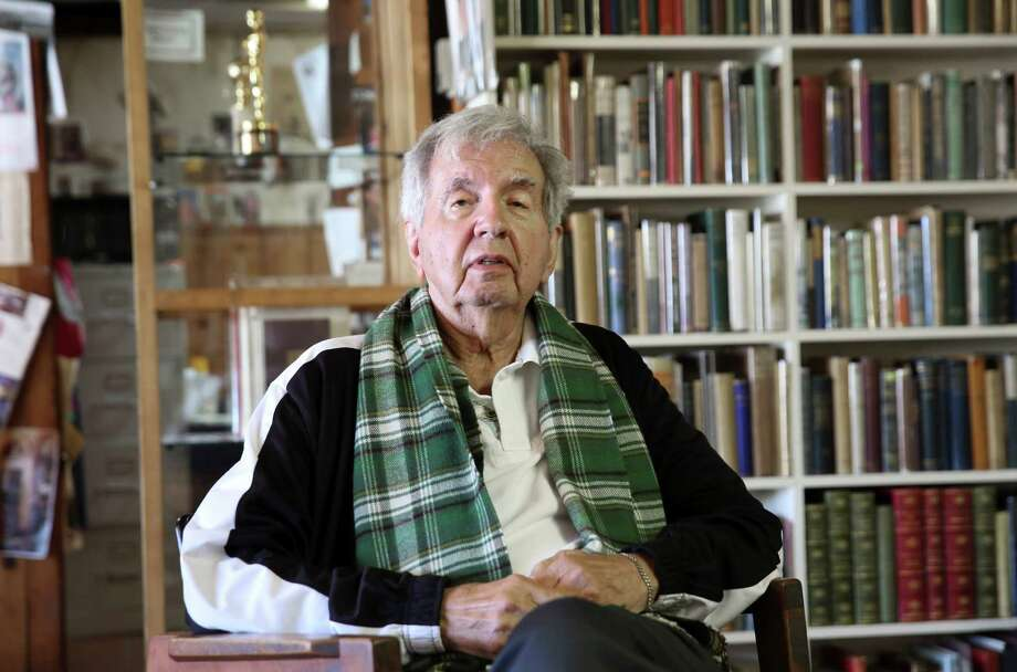 """This April 30,  2014 photo shows Pulitzer Prize-winning author Larry McMurtry at his book store in Archer City, Texas. The author of almost 50 books including novels, biographies and essay collections who has had simultaneous careers as a screenwriter and bookseller, has a new novel out Wednesday, May 7, called """"The Last Kind Words Saloon."""" (AP Photo/LM Otero) Photo: LM Otero, STF / AP"""