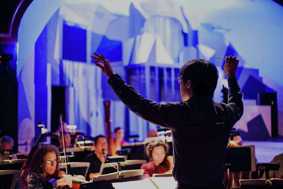 "Maestro Eiki Isomura conducts ""La Tragedie de Carmen"" at Opera in the Heights. Photo: Mariam Khalili"