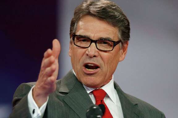 FILE - In this Aug. 22, 2015, file photo Republican presidential candidate, former Texas Gov. Rick Perry speaks at the Defending the American Dream summit hosted by Americans for Prosperity at the Greater Columbus Convention Center in Columbus, Ohio. Perry, on Sept. 11, 2015, is dropping out of the 2016 race for president.