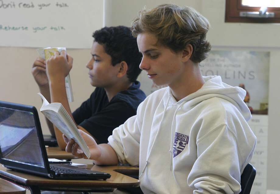 "Miles Fawcett (left) and Kevin Judd read ""Lord of the Flies in Debbi Hill's 9th grade English class at Piedmont High School in Piedmont, Calif. on Friday, Sept. 10, 2015. Piedmont High is one of the highest achieving schools in the Bay Area. Photo: Paul Chinn, The Chronicle"