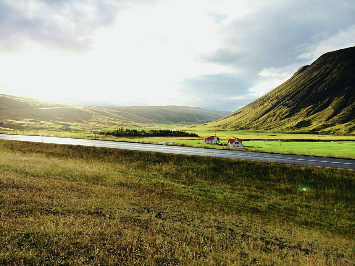 Driving in northern Iceland. The island nation, while roughly the size of the state of Kentucky, has just 7 percent of its population.