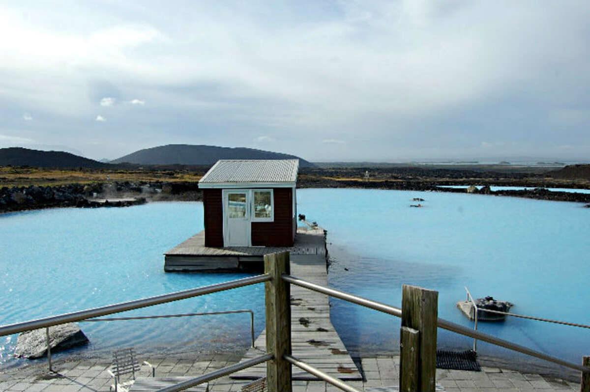 The Myvatn Nature Baths are fed from the runoff of a geothermal power plant.