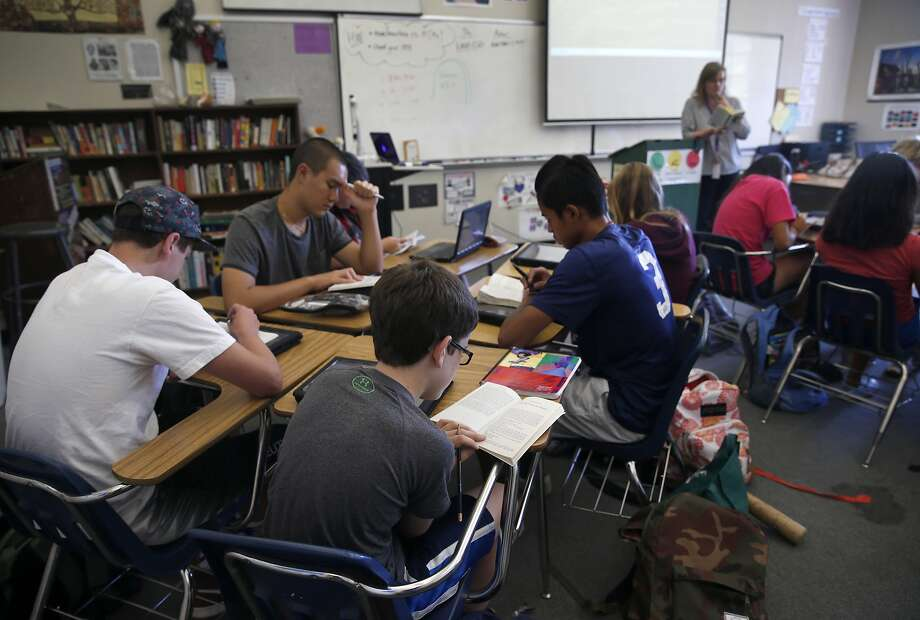 "Ninth grade students read ""Lord of the Flies"" in Debbi Hill's English class at Piedmont High School in Piedmont, Calif. on Friday, Sept. 10, 2015. Piedmont High is one of the highest achieving schools in the Bay Area. Photo: Paul Chinn, The Chronicle"