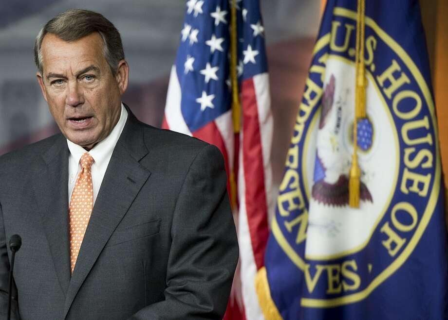 Speaker of the House John Boehner Photo: Saul Loeb, AFP / Getty Images