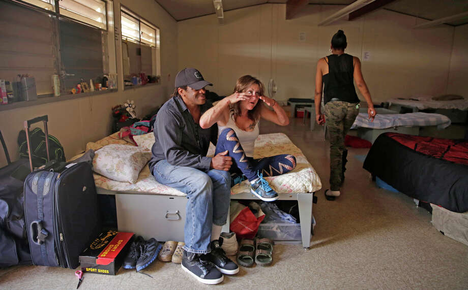 Victor Frazier and Cynthia Balan say the Navigation Center in the Mission District has helped get them off the streets. The mayor is expanding the city's commitment to supportive housing. Photo: Lea Suzuki / The Chronicle / ONLINE_YES