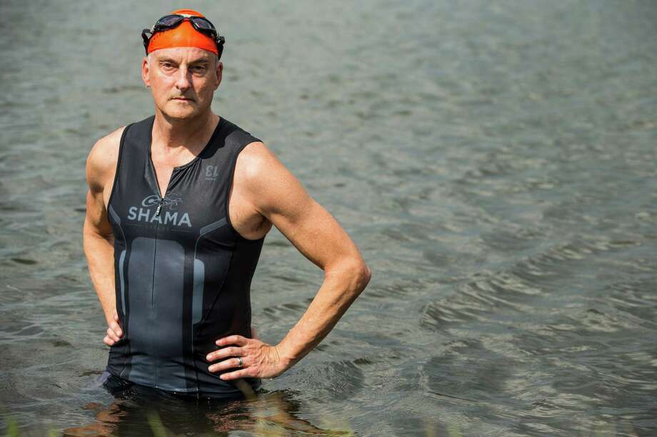 Jeff Gill will be pursuing his 375th triathlon this month when he competes in the Katy Triathlon. Photo: Brett Coomer, Staff / © 2015 Houston Chronicle