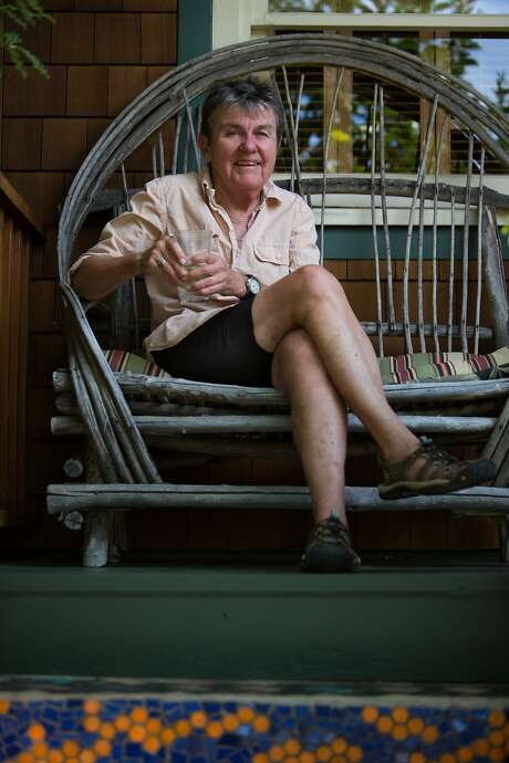 Kay Ryan sits for a portrait on Thursday, Sept. 10, 2015 in Fairfax, Calif.  Ryan, winner of a genius award, the Ruth Lily Prize, the Pulitzer Prize for poetry and previous U.S. Poet Laureate, is coming out with a collection of short, witty, playful and incisive poems. Photo: Nathaniel Y. Downes, The Chronicle
