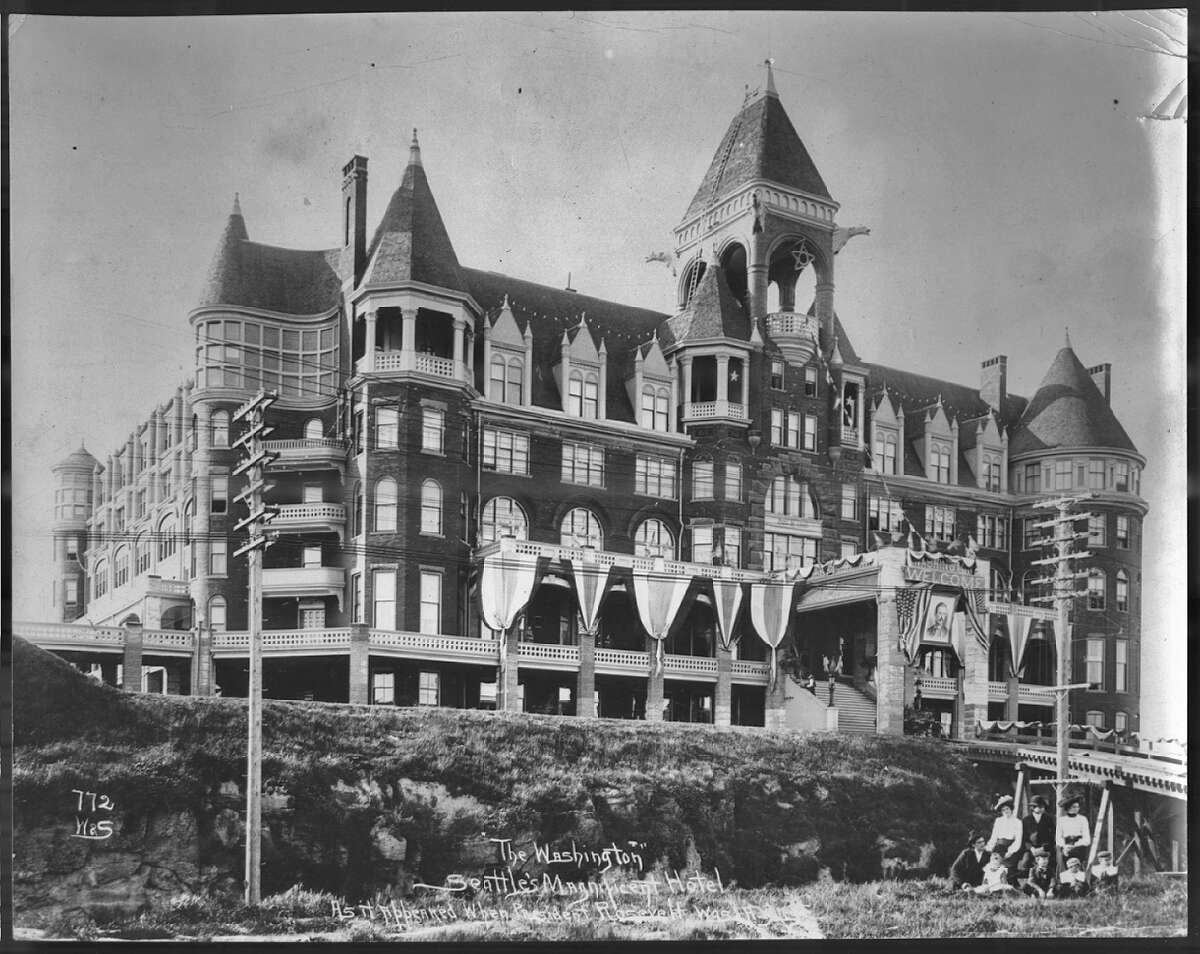 The Washington Hotel in Seattle, pictured 1903.