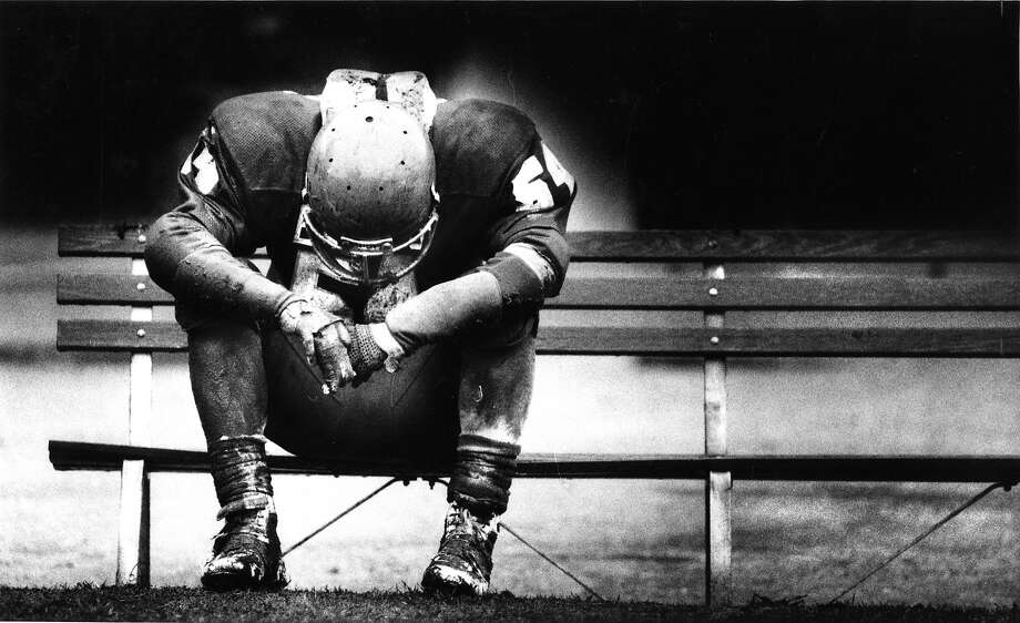 For every celebration, there is dejection, as Washington High's Mark Rosenberg shows after a loss to McAteer in the 1985 City Championship game. Photo: Eric Luse, The Chronicle