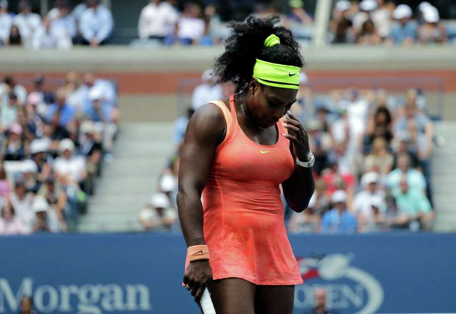 Serena Williams, who this year routinely dug herself out of holes, couldn't do so in Friday's semifinals. Photo: Bill Kostroun, FRE / FR51951 AP