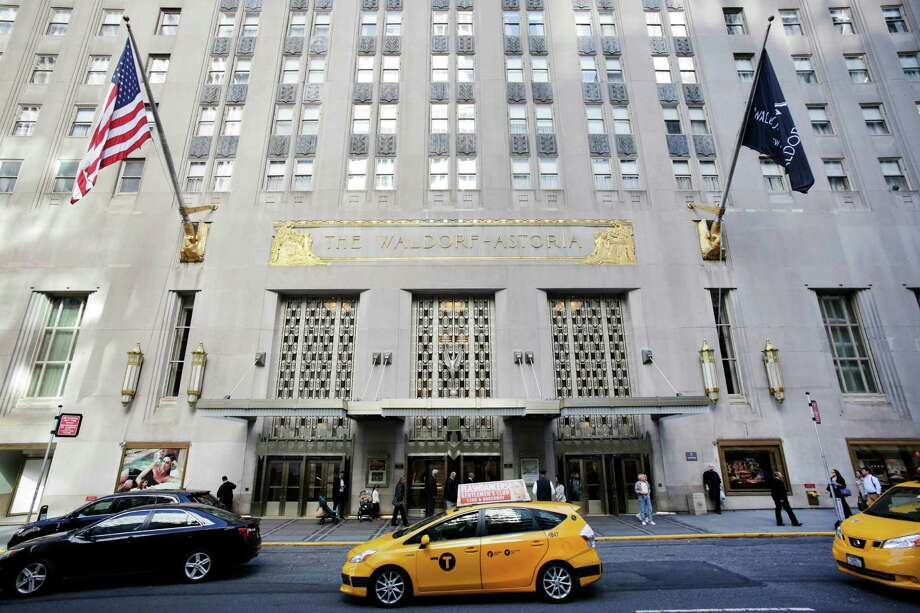 The U.S. government says it's moving out of New York's famed Waldorf-Astoria Hotel. Photo: Mark Lennihan, STF / AP