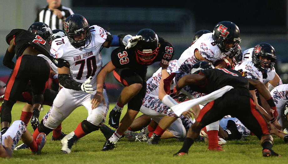 Hardin - Jefferson and Kountze battle during their game Friday night in Kountze.