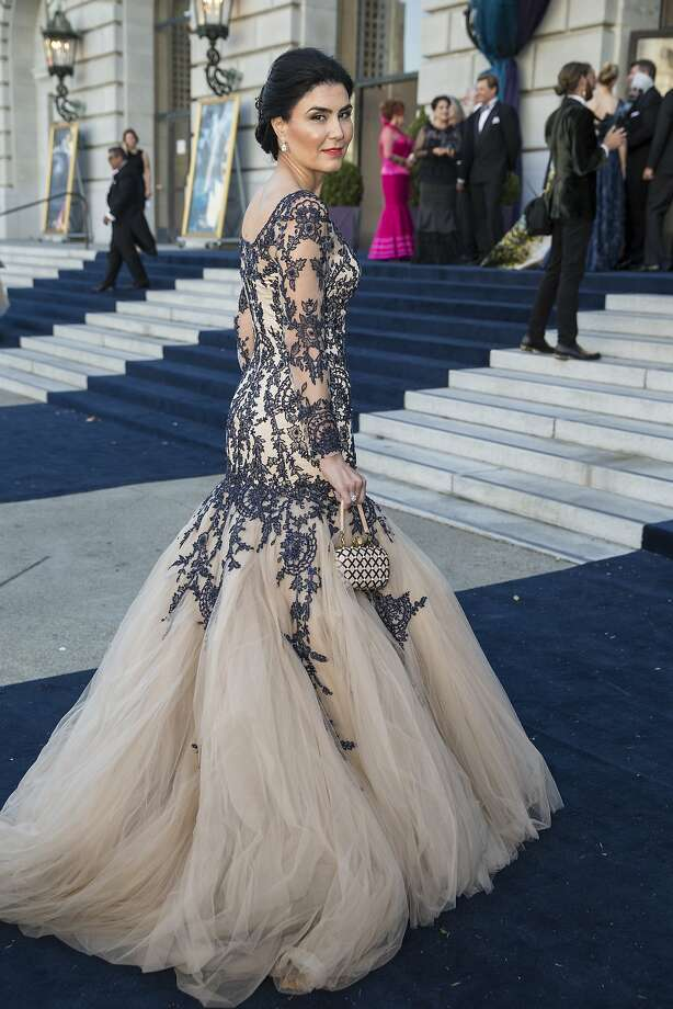 Afsaneh Akhtari wears a gown by Pavoni while attending the San Francisco Opera Ball 2015: Moonlight & Music, in San Francisco, Calif., on Friday, September 11, 2015. The benefit ball celebrated San Francisco OperaÕs 93rd season. Photo: Laura Morton, Special To The Chronicle