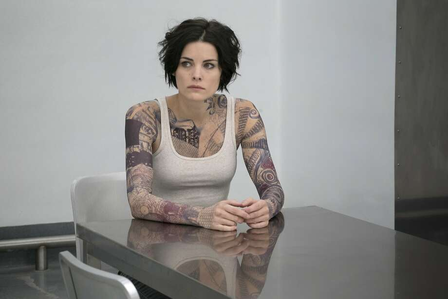 "Jaimie Alexander's tattoos provide clues in ""Blindspot."" Photo: Virginia Sherwood, Associated Press"