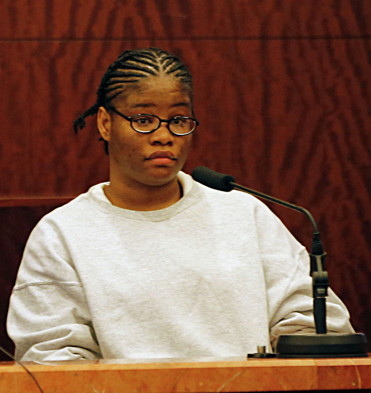 Ashley Nicole Richards testifies in 208th State District Criminal Court during the punishment phase of Kelly Jo Ivey's trial after Ivey was convicted of Intoxication Manslaughter in the death of Harris County Sheriff Deputy Jesse