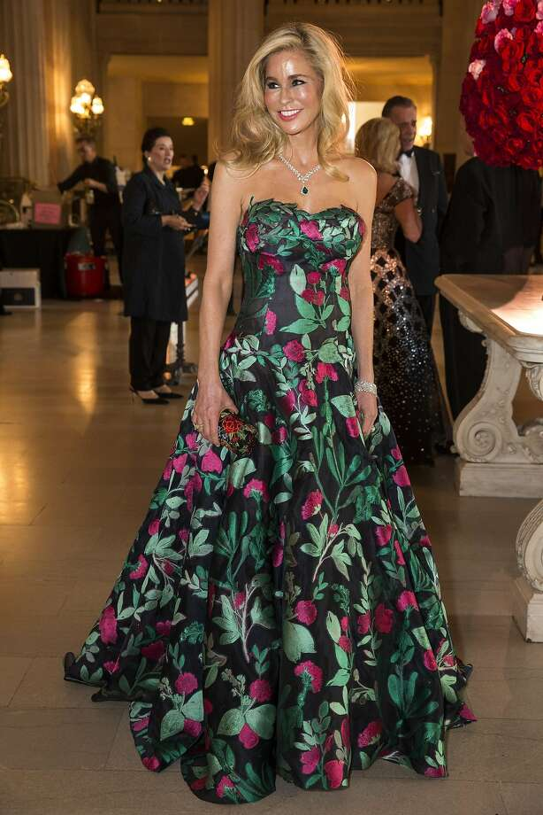 Paula Carano wears a dark floral gown by Oscar de la Renta while attending the San Francisco Opera Ball 2015: Moonlight & Music, in San Francisco, Calif., on Friday, September 11, 2015. Photo: Laura Morton, Special To The Chronicle