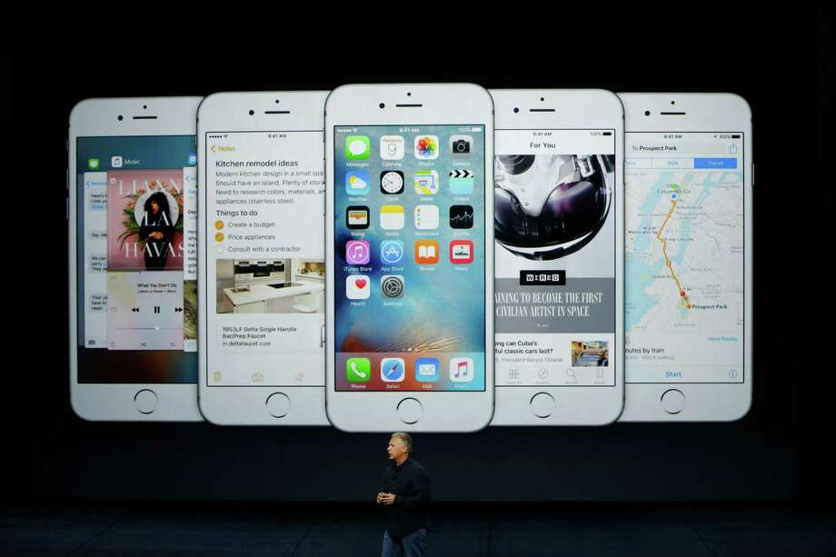 SAN FRANCISCO, CA - SEPTEMBER 9: Apple Senior Vice President of Worldwide Marketing Phil Schiller speaks about the new iPhone 6s and 6s Plus during a Special Event at Bill Graham Civic Auditorium September 9, 2015 in San Francisco, California. Apple Inc. unveiled latest iterations of its smart phone, forecasted to be the 6S and 6S Plus and announced an update to its Apple TV set-top box. (Photo by Stephen Lam/ Getty Images) ORG XMIT: 576709901 Photo: Stephen Lam / 2015 Getty Images