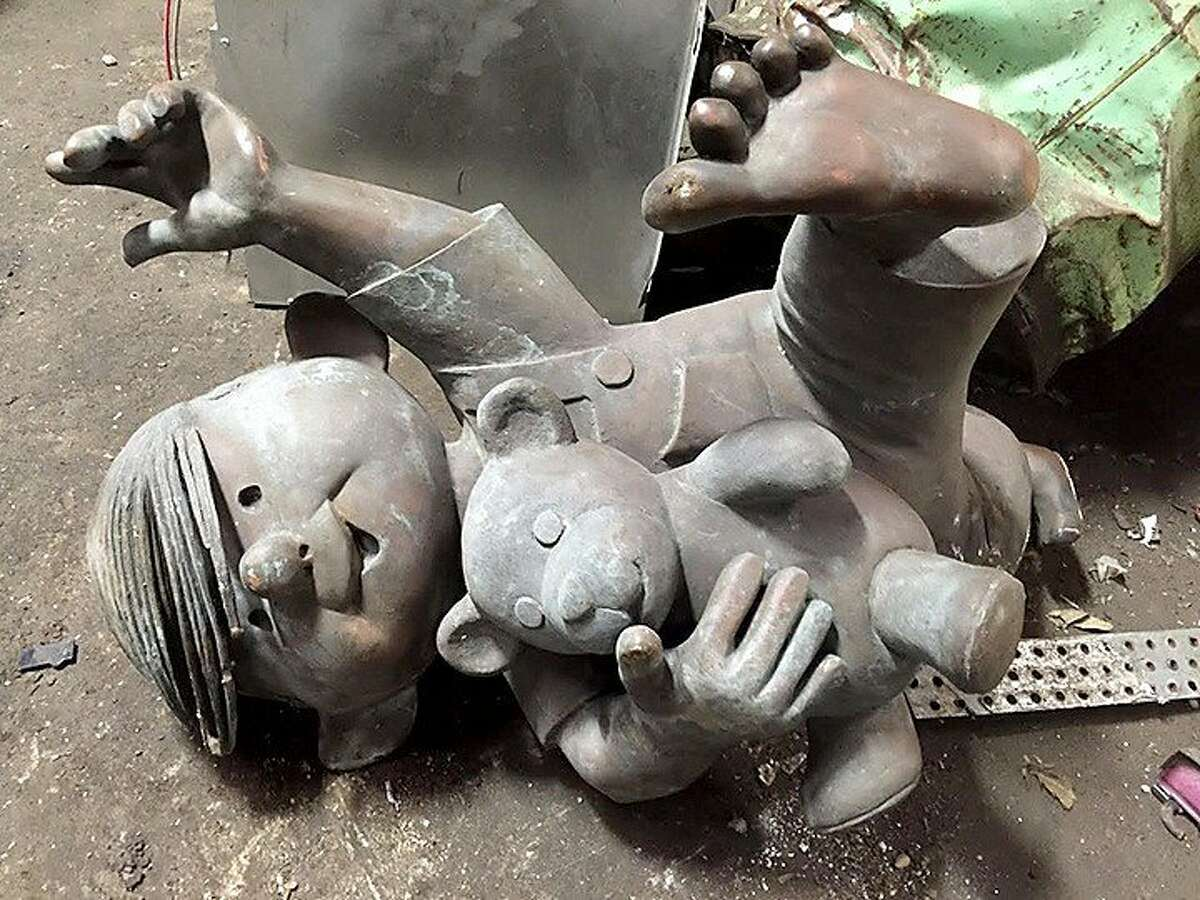 """This """"Dennis the Menace"""" statue was stolen from a park in Monterey, Calif., in 2006 and recovered in Florida in 2015."""