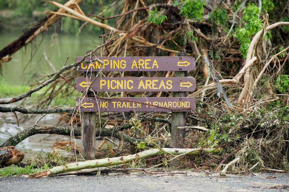 Officials estimate it will cost more than $16 million to repair damage to state parks caused by record-setting flooding in May and June. The flooding damaged 50 parks and forced the closure of 11. Four of those parks remain closed. Photo: CHASE FOUNTAIN, PHOTOGRAPHER / CHASE A. FOUNTAIN, TPWD