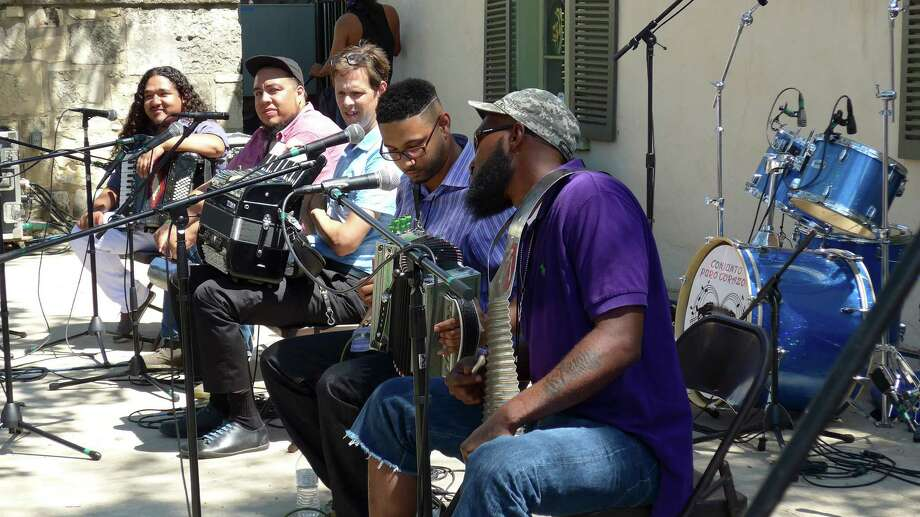 The group Accordion Shakedown performs at the International Accordion Festival on Saturday, Sept. 12. Photo: John W. Gonzalez / San Antonio Express-News