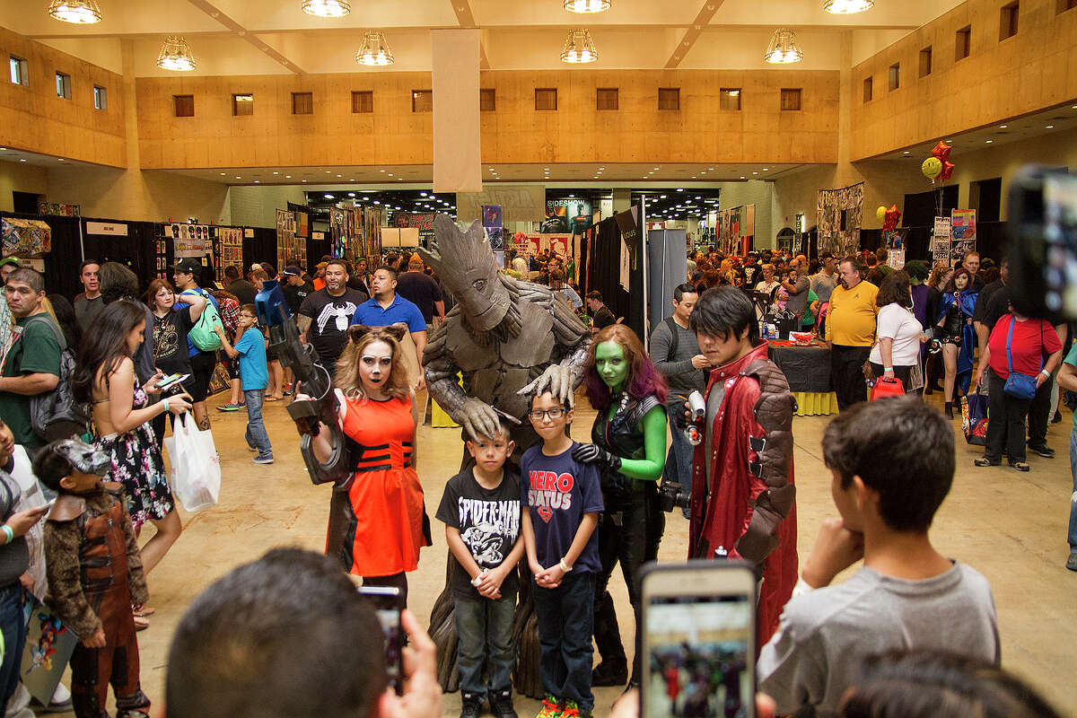 Attendees of Alamo City Comic Con at the Henry B. Gonzalez Convention Center, Saturday, Sept. 12, 2015.