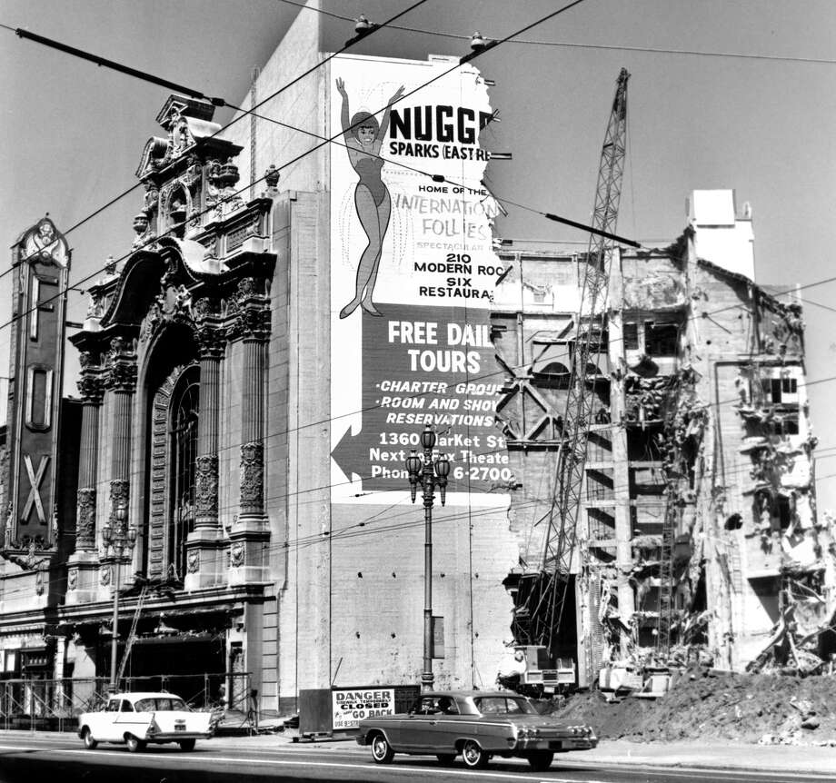 The Fox Theater, once the crown jewel of San Francisco movie palaces, undergoes demolition in 1963. Photo: Ken McLaughlin / Ken McLaughlin / The Chronicle 1963 / ONLINE_YES
