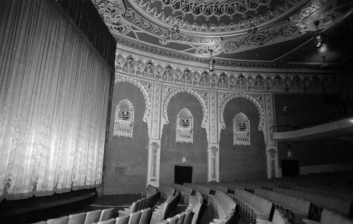 The Alhambra Theater being remodeled in 1974.
