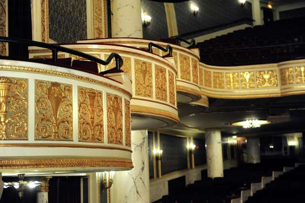 View of the restored Dutch gold leaf on the balcony on Thursday, Aug. 20, 2015, at Proctors Theatre in Schenectady, N.Y. The side balconies will remain as seen, but lighting equipment will soon obscure the view of the main balcony. (Cindy Schultz / Times Union) ORG XMIT: MER2015082020085682 Photo: Cindy Schultz / 00033050A