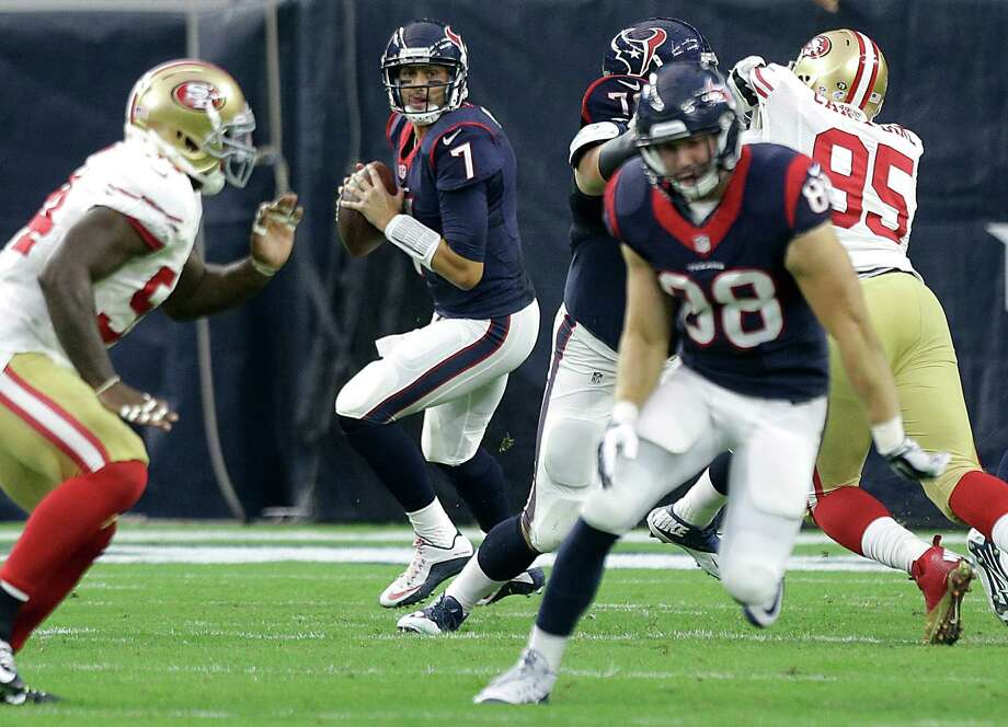 Despite an uninspiring career track record, quarterback Brian Hoyer (7) has earned the unflagging confidence of coach Bill O'Brien that he can make the Texans' offense a productive unit. Photo: Brett Coomer, Staff / © 2015  Houston Chronicle