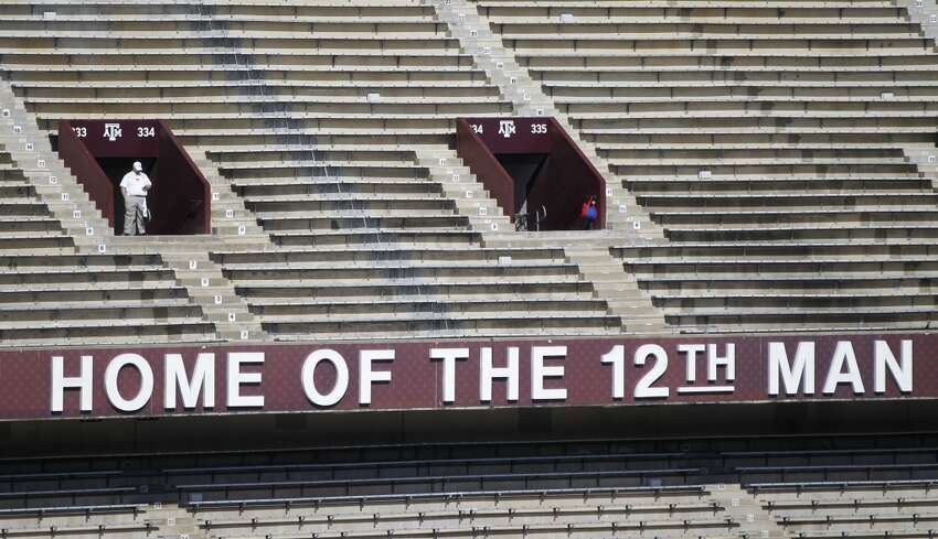 The original Home of the 12th Man sign from the old stadium before the start of a college football game at Kyle Field on Saturday, Sept. 12, 2015. ( Karen Warren / Houston Chronicle )