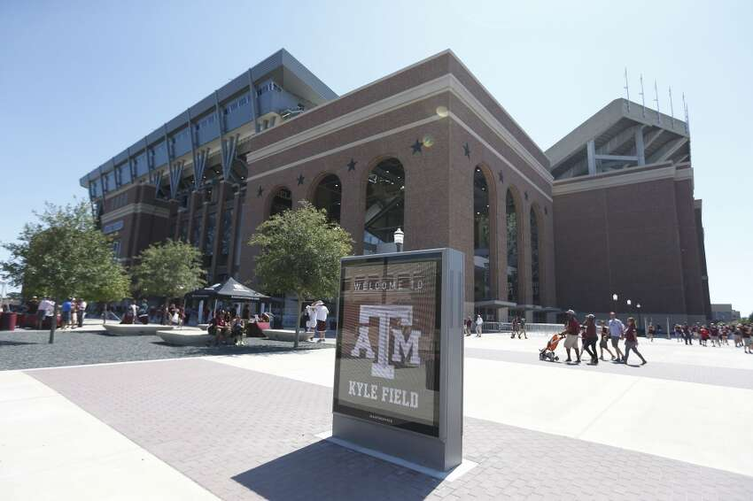 Exterior of the new stadium before the start of a college football game at Kyle Field on Saturday, Sept. 12, 2015. ( Karen Warren / Houston Chronicle )