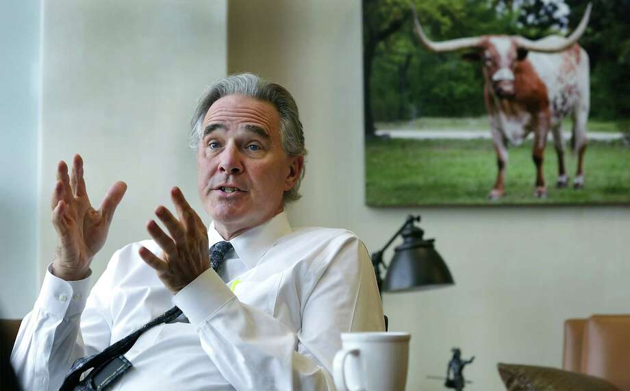 Steve Patterson Director of Men's Athletics at The University of Texas, speaks during an interview in his office, on the marketing of college sports on Tuesday, July 28, 2015. Photo: Bob Owen /San Antonio Express-News / San Antonio Express-News