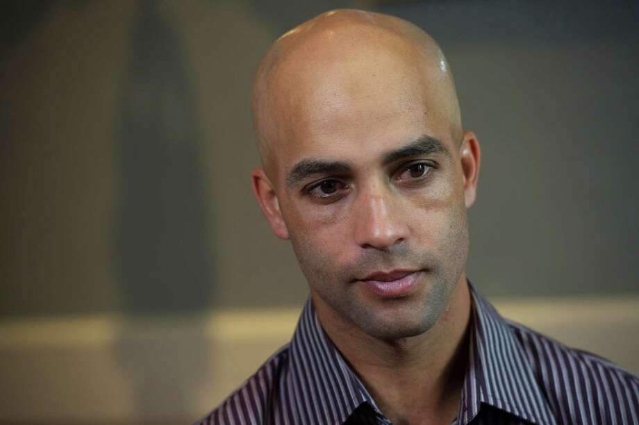 "Former tennis star James Blake says the actions of Officer James Frascatore tarnish the badge of ""the heroes that are doing the right kind of police work."" Photo: Bryan R. Smith, FRE / FRE171336 AP"